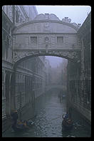 The Bridge of Sighs in Venice Italy.